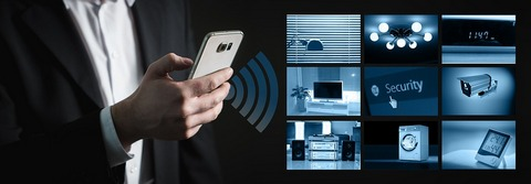 Using smartphone to control home security gadgets