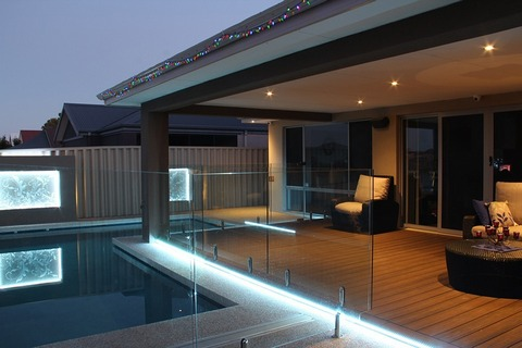 Alfresco deck by the pool
