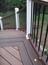 Decking and railing stairs