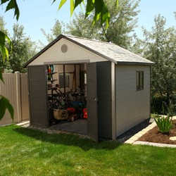 Larger garden shed provides more space