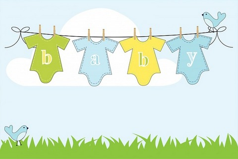 A graphic showing clothes line with baby clothes hanging