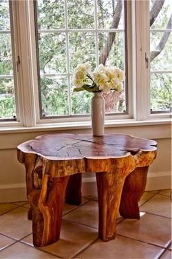 Unioque handmade wooden table