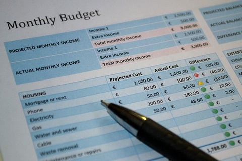 Create your home budget template