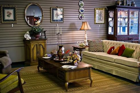 Home furniture accentuating room decor