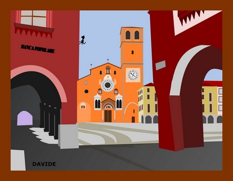 Art picture with an Italian theme