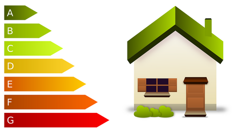 An illustration of rating home's energy efficiency