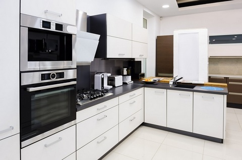 Black and white modern kitchen design