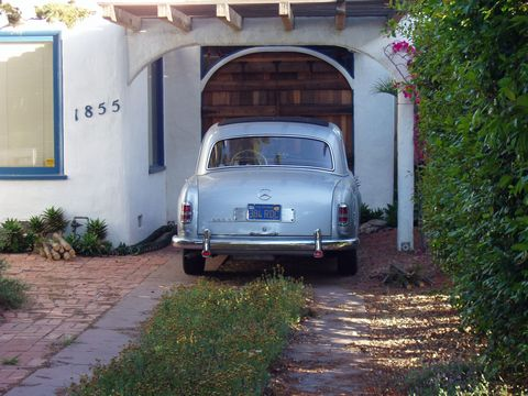 Car parked at home