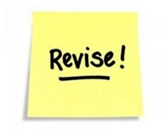 Revise reminder note