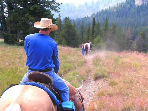 Horseback riding in Idaho