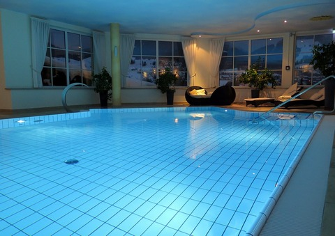 Large traditional indoor pool