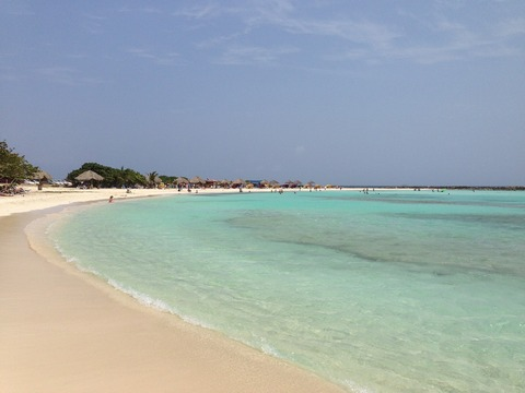 Beach bay in Aruba